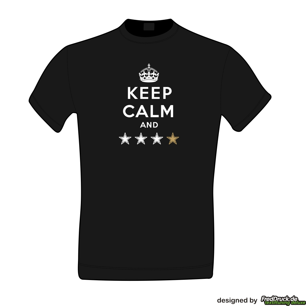 KEEP CALM AND **** - Herrenshirt schwarz >>>