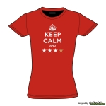 KEEP CALM AND **** - Damenshirt rot