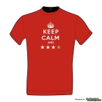 KEEP CALM AND **** - Herrenshirt rot